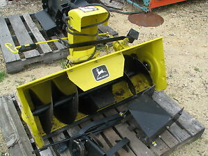 Details about John Deere 338 Snowthrower 112L 111 108 116 Tractor