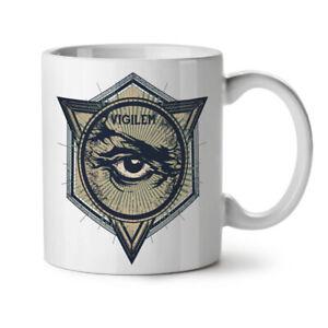 Vintage Triangle NEW White Tea Coffee Mug 11 oz   Wellcoda