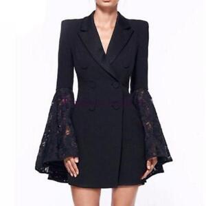 in pizzo donna doppio slim lusso vestibilità Cappotto da elegante di petto zxtYxqwX
