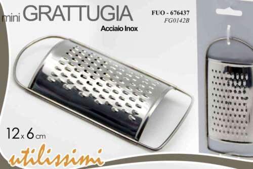 MINI GRATTUGIA MULTIUSO MANUALE ACCIAIO INOX 12X6  CM  FUO-676437