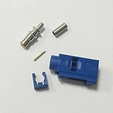 Fakra C female connector blue color SMB crimp for RG316 cable for GPS Navi NEW