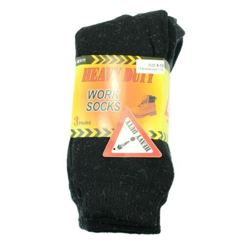 12 Paires Homme Heavy Duty Hiver Chaud Travail Bottes LAINE feel Crew Chaussettes Taille 5-15