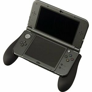 Cyber-Grip-Rubber-Coating-Black-for-NEW-Nintendo-3DS-LL-XL-F-S-From-Japan