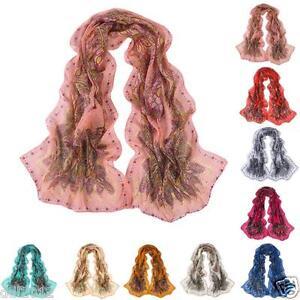 Women-Ladies-Fashion-Pretty-Long-Soft-Chiffon-Scarf-Wrap-Shawl-Stole-Scarves
