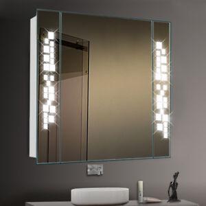 Asterism Led Illuminated Bathroom Mirror Wall Cabinet Socket Sensor