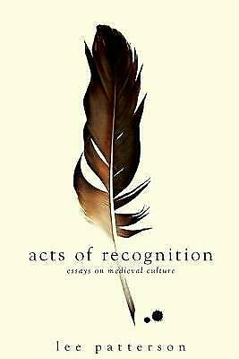 Acts of Recognition, Lee Patterson,  Paperback