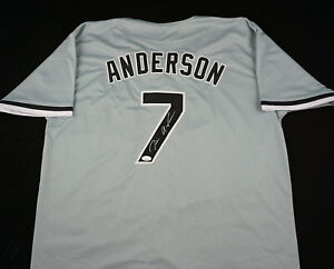 Tim-Anderson-Signed-Autograph-Gray-Jersey-JSA-COA-White-Sox-Great