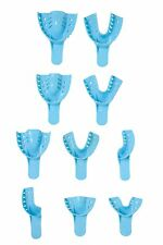 10pcs. Assorted Perforated Plastic Dental Denture Impression Trays. All Sizes