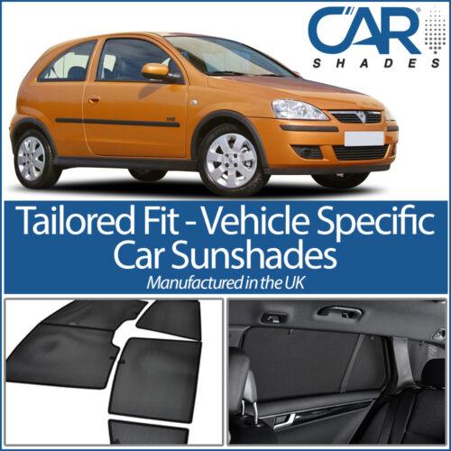 Vauxhall Corsa 3dr 2000-2006 UV CAR SHADES WINDOW SUN BLINDS PRIVACY GLASS TINT