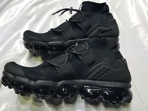 quality design 9717f 43ecf Details about MENS NIKE AIR VAPORMAX FK UTILITY TRIPLE BLACK SZ 9