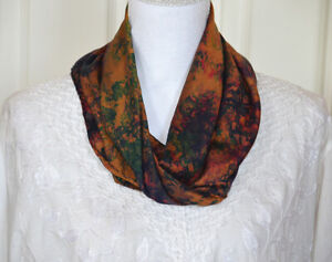 Silk-Soft-Buff-Yellow-Red-Green-Multi-Color-Tie-and-Dye-Scarf
