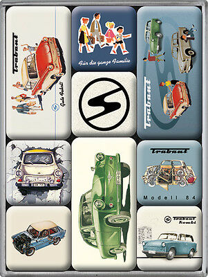 Trabant DDR Auto Ostalgie Car Nostalgie  9-tlges Kühlschrank Magnet Set MAG03