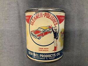 Vintage Sentinel Products Rubbing Compound Can 1/4 Gal. Great Art Graphics
