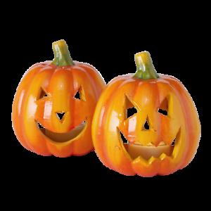 2-STK-KURBIS-Terrakotta-WINDLICHT-XL-Kuerby-nr5795-Orange-Halloween-Kuerbisse-Deko