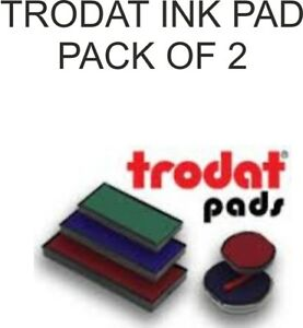 TRODAT PRINTY INK PADS SWOP REPLACEMENT STAMP REFILLS PK OF 2 NOT SINGLES!