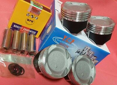 YCP 75.5mm Vitara Pistons Teflon Coated Low Comp Racing Rings Honda D16 Turbo