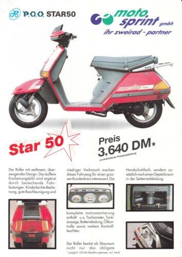 Prospekt flyer PGO Star 50 1 Blatt // 2 Seiten P
