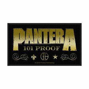 Pantera-Whiskey-Etiquette-Tisse-Patch-a-Coudre-Officiel-Marchand-Du-Groupe-Metal