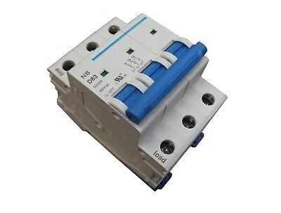 230 1 Amp 2 Pole Din Rail Mount Circuit Breaker UL 208 240 /& 480 Volt Class B