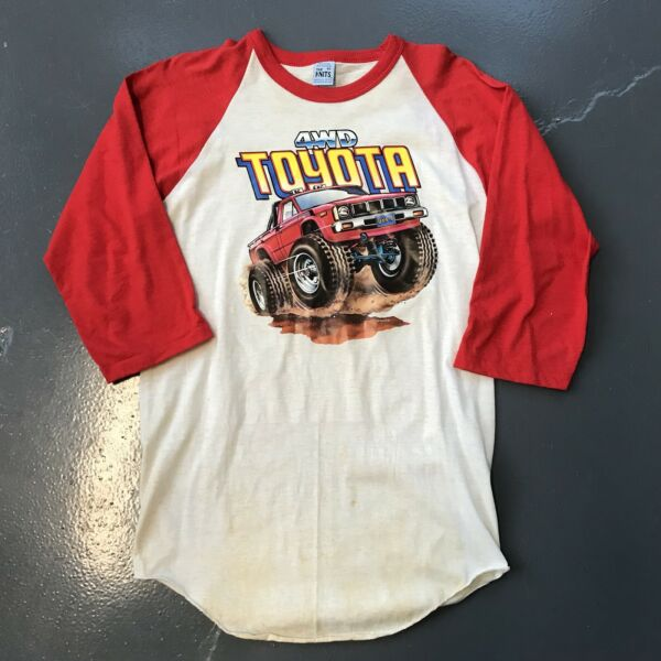 Roach Raglan Vintage 50 Shirt Usa Medium 80s Toyota Vtg T 4x4 50 HID29WEY