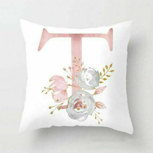 Pillow Car Pillowcase Home Letter Case Print Pink Decoration Throw Cover Cushion