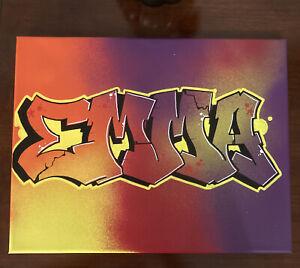EMMA Graffiti Art 11 X 14 Spray Paint and Marker on Canvas Original Artwork