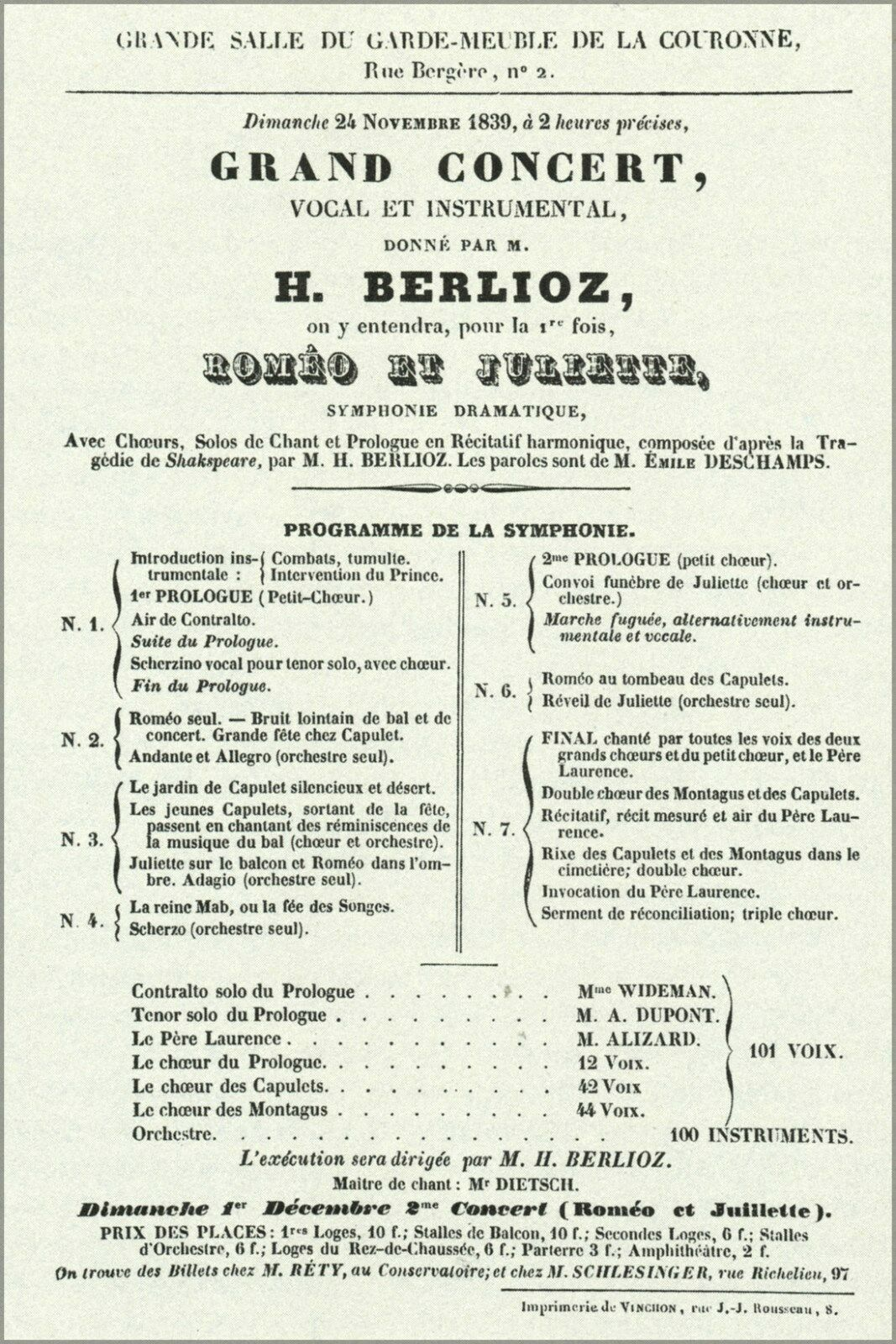 Poster, Many Größes; Romeo And Juliet, First Performance (24 November 1839) By He