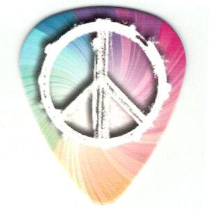 12-Pack-Bulk-Picks-Trippy-PEACE-LOVE-HIPPIE-RAINBOW-SWIRL-Medium-Guitar-Pick