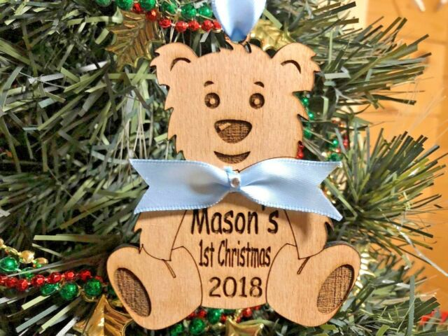Personalised Christmas Decoration Tree Baby 1st First Xmas Ornament