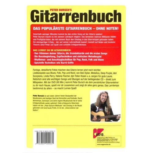 Neuausgabe 2015 mit Lehrprogramm//Lehrvide Gitarrenbuch Band 1 von Peter Bursch