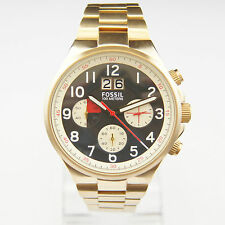 FOSSIL Uhr CH2911 QUALIFIER Herren Edelstahl Gold Armbanduhr Chronograph Datum