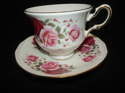 Saucer /& Luncheon Plate Crownford QUEEN/'S Fine Bone China England FootedTea Cup