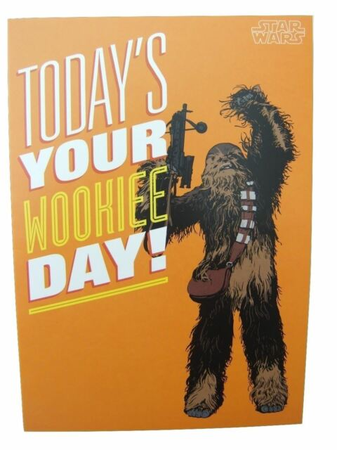 Star Wars Wookie Blank Birthday Card By Hallmark 25456528 Ebay