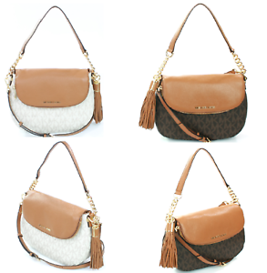 a7eff70a0298 Michael Kors Bedford Large Tassel Convertible Shoulder Bag Medium ...