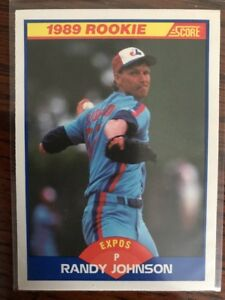 1989 Score 645 Randy Johnson Montreal Expos Rc Rookie