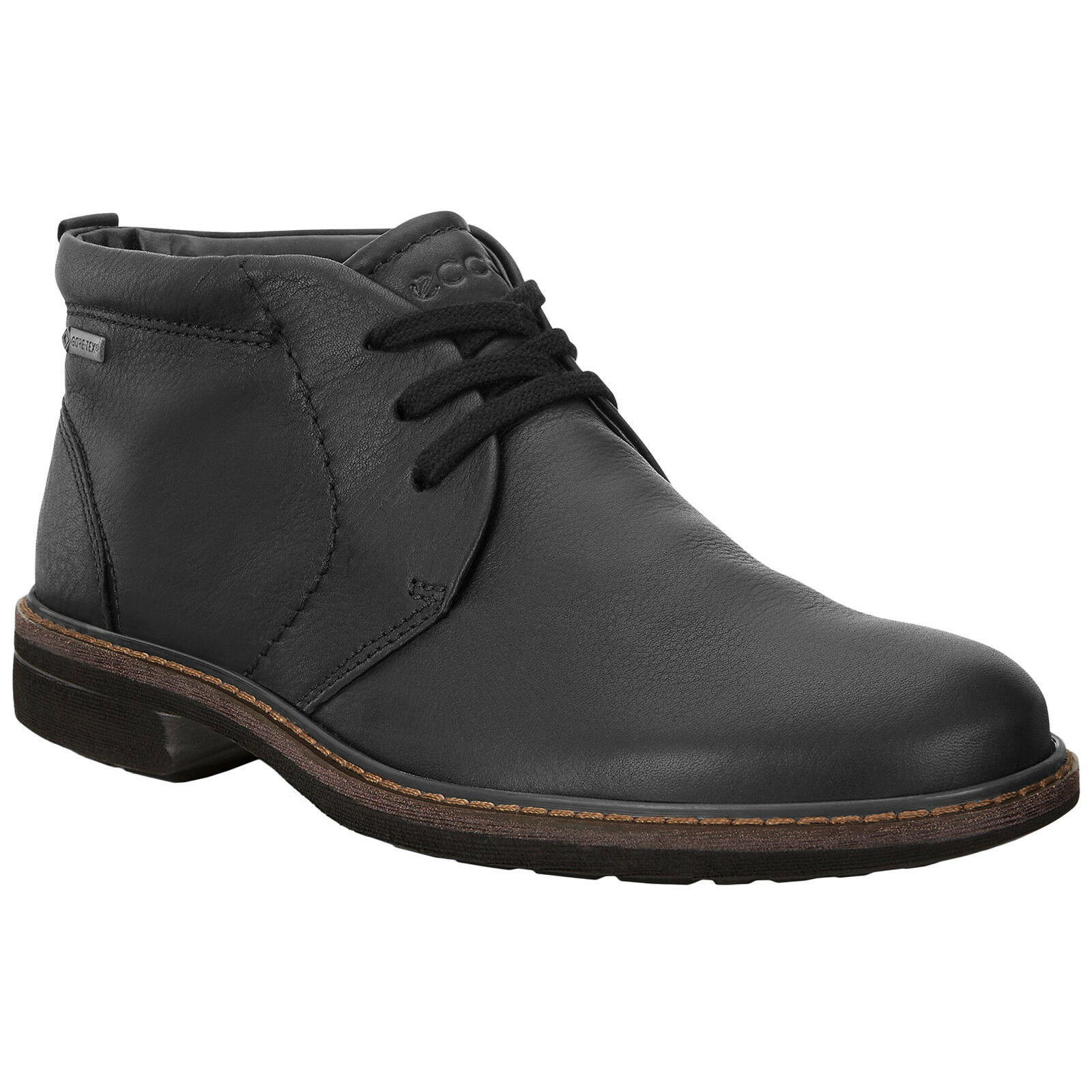 Ecco Turn Leather Lace-Up Ankle Mens Boots