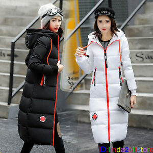 NEW-Women-Winter-Warm-Long-Coat-Hooded-Down-Cotton-Slim-Jacket-Outwear-Parka