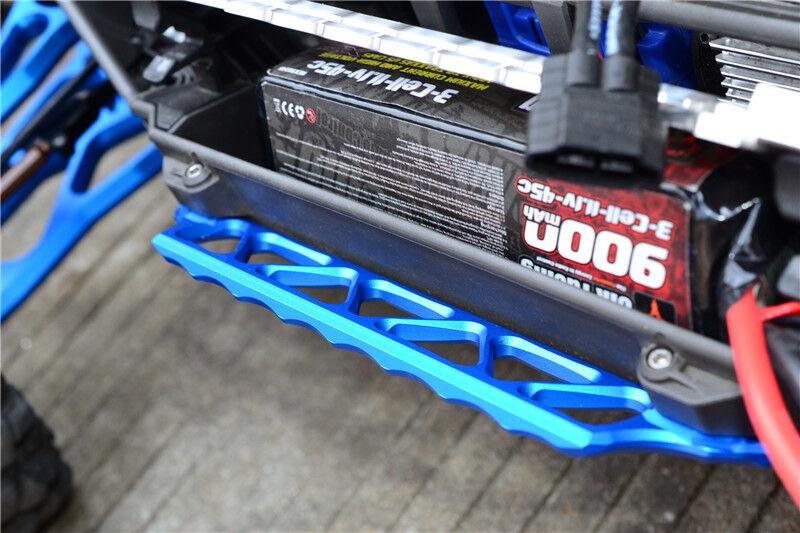 Traxxas X-Maxx X MAXX 77076-4 Aluminum Alloy SIDE SIDE SIDE TRAIL BAR - 2PCS SET blueE 93b01f