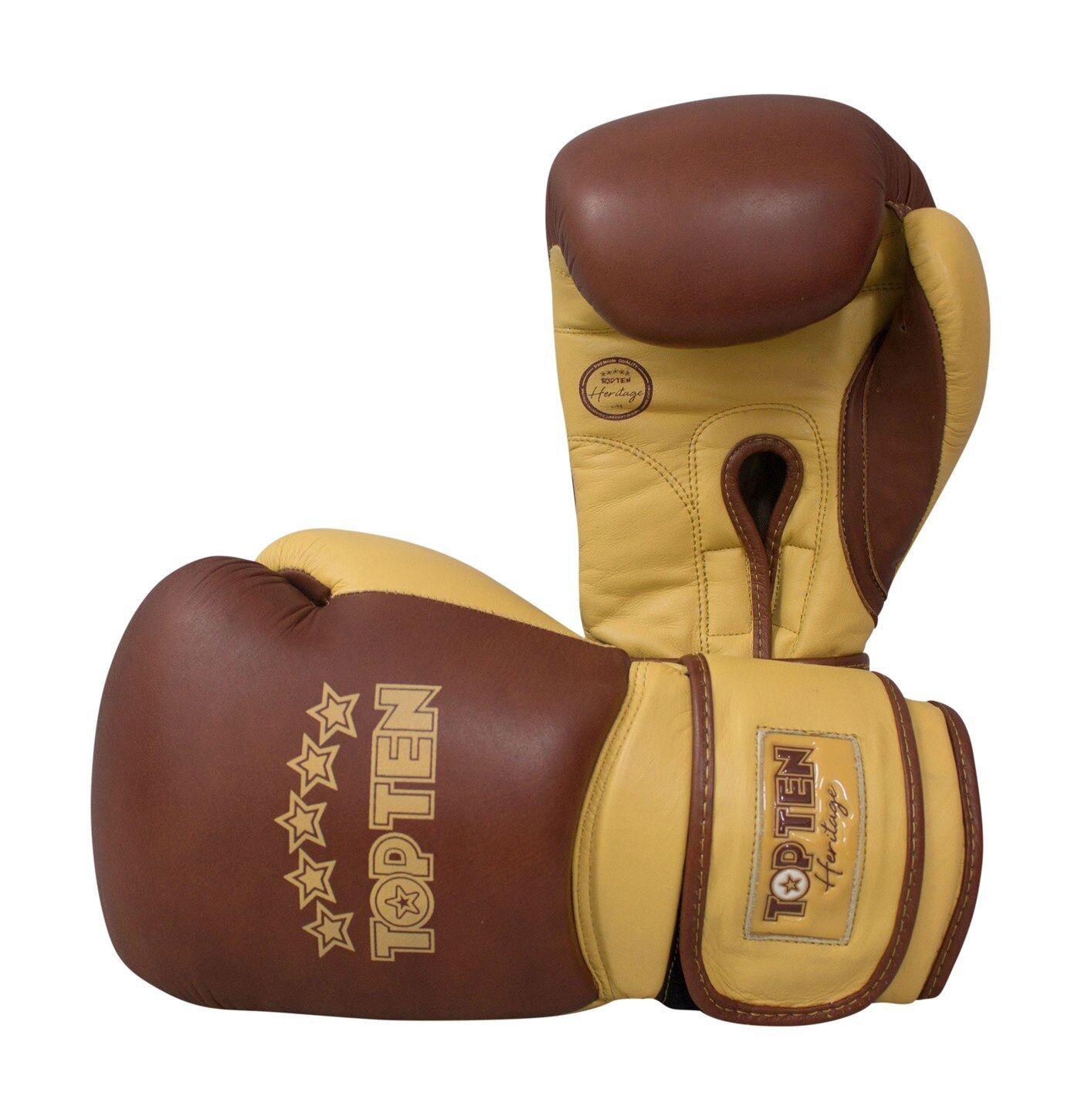 Boxhandschuhe TOP TEN  Heritage  Gr. 10&12 oz. 100% Rindsleder, Boxen, Muay Thai