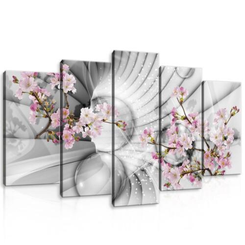 Wandbild Set Leinwandbild Kunstdruck F05843 Canvas Set 3D Tunnel mit Blumen