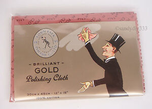 "1x TOWN TALK GOLD Jewellery Polishing Cloth  30x45cm . 12x18""  LARGE SIZE"