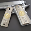 Mexican-eagle-1911-Grips-cachas-PISTOL-GRIPS-Full-Size-45-Commander-Ambi-Cut thumbnail 1