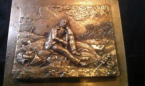 Bronze Xix ème Tableau D' Horace Vernet Le Dernier Grenadier Waterloo Napoléon! Fournir Des CommoditéS Pour Le Peuple; Rendre La Vie Plus Facile Pour La Population