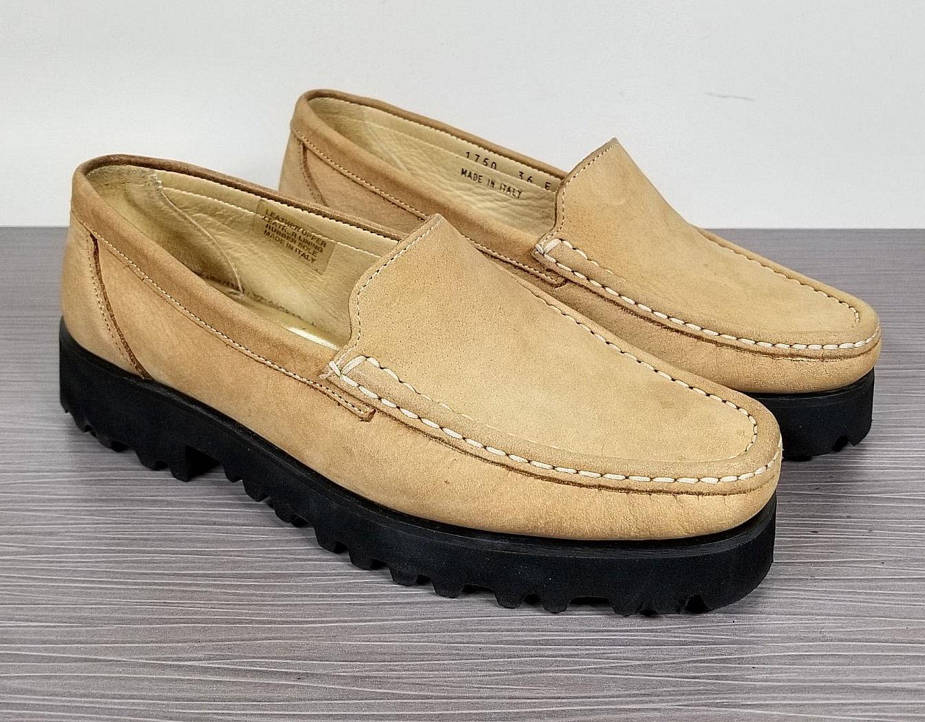 Ron White 'Rita' Loafer, Sand Nubuck Leather, Womens Size 5.5 / 36 E