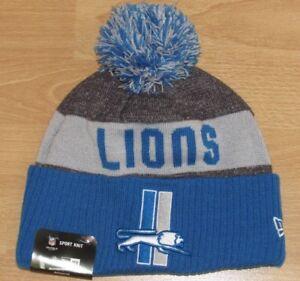 20548777 Detroit Lions New Era On Field Vintage Logo Cuffed Winter Hat Cap ...