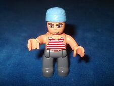 LEGO DUPLO PIRAT aus 7881 7880 7882 FIGUR mit KOPFTUCH HELLBLAU WOW