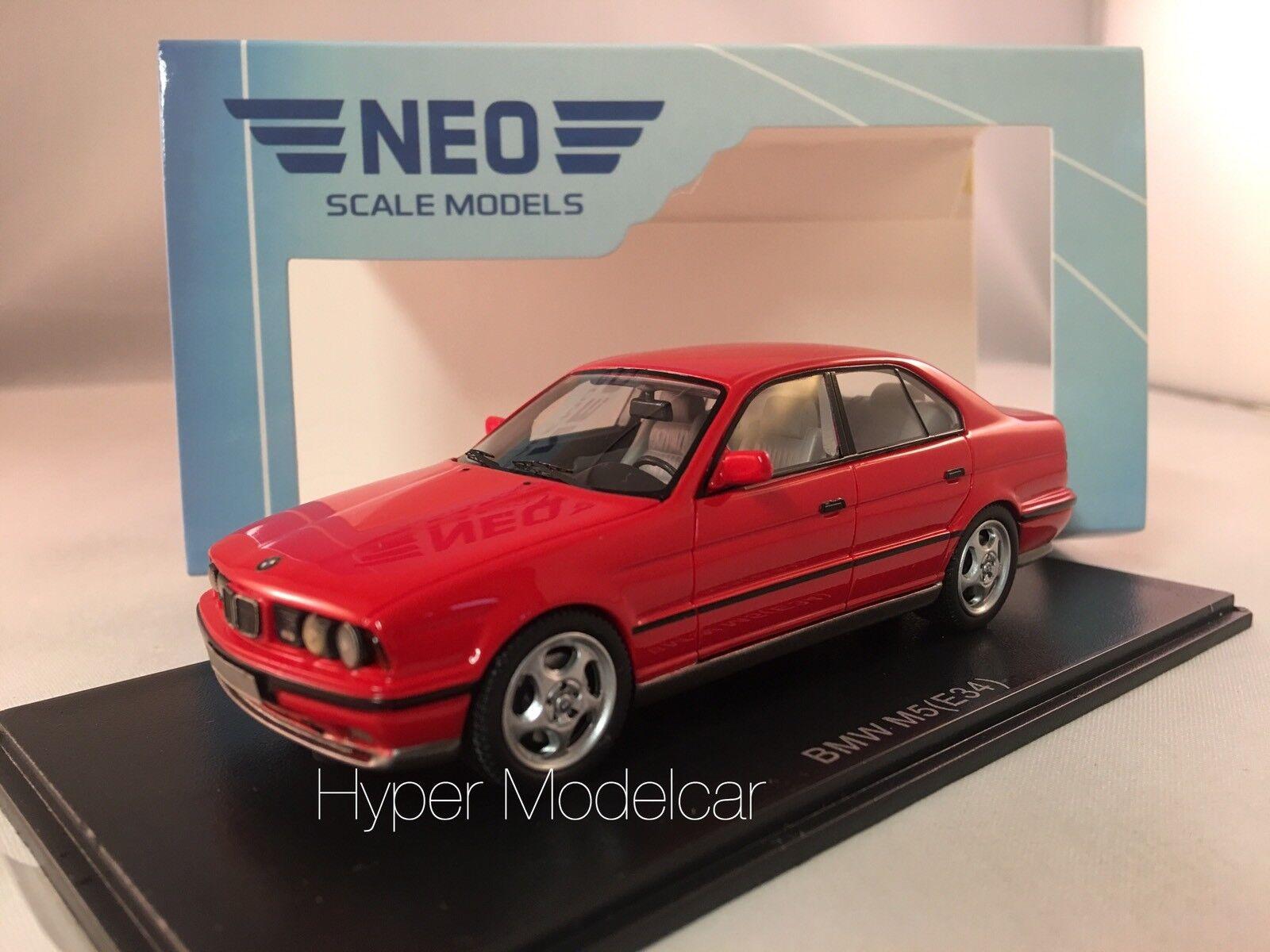 NEO SCALE MODEL 1/43 Bmw 5-Series M5 (E34) 1991 Red Art. Neo43314