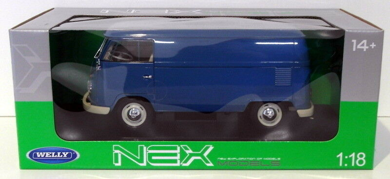 Welly 1 18 Scale Diecast 18053W - 1963 Volkswagen T1 Bus - bluee