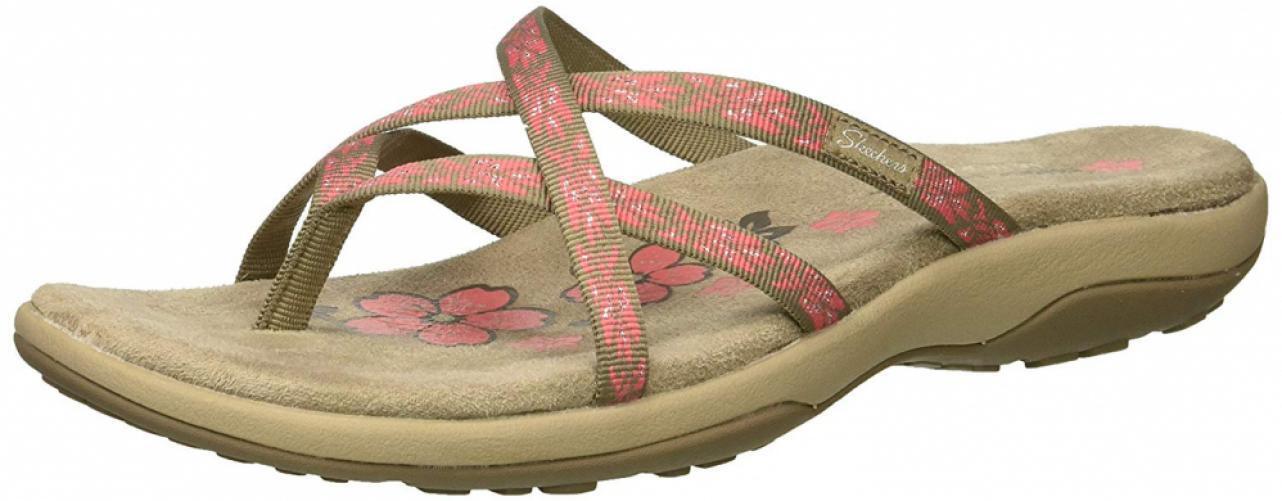 Skechers Femmes'S REGGAE Slim-Hoola-Multi-Strap Thong Sandal