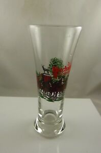 Budweiser-Clydesdale-beer-glass-vintage-1991-Anhueser-Busch-glass-collectible